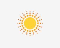 太阳标志设计商标 免版税库存图片