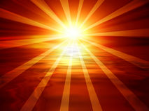 太阳横幅 免版税库存图片