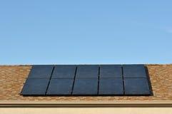 太阳次幂的屋顶 库存图片