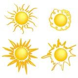 太阳没有背景的传染媒介图象 皇族释放例证