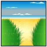 太阳海和美丽的海滩 库存图片