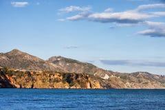 太阳海岸海岸线在西班牙 库存照片