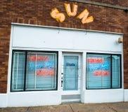 太阳演播室,联合大道,孟菲斯,田纳西 免版税库存图片