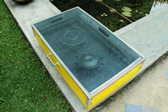 太阳烹饪器材 免版税库存图片