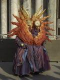 太阳狂欢节面具在威尼斯,意大利 库存图片