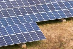 太阳电池板农场 图库摄影