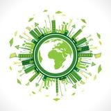 太阳电池板创造性的绿色森林  库存图片