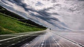 太阳电池板力量 免版税库存照片