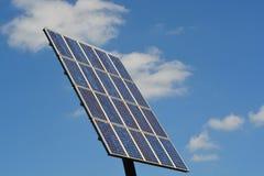 太阳电池板和蓝天 库存图片