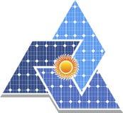 太阳电池板商标 免版税图库摄影