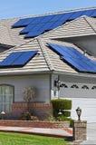 太阳电池板家 图库摄影