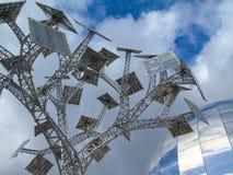 太阳电池板树,布里斯托尔,英国 库存照片