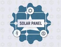 太阳电池板概念的Infographics 免版税图库摄影