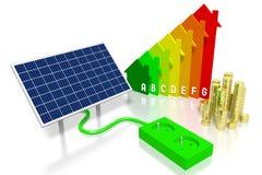 太阳电池板概念 免版税图库摄影