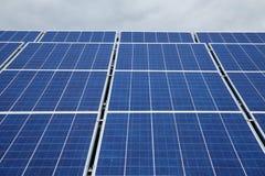 太阳电池板用于发电 免版税图库摄影