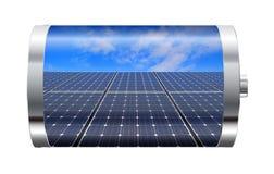 太阳电池板电池 图库摄影