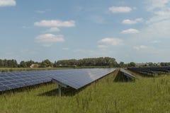 太阳电池板的巨大的领域 免版税图库摄影