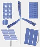 太阳电池板的类型 免版税图库摄影