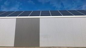 太阳电池板盖的仓库 股票视频