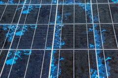 太阳电池板细节,光致电压,供选择的电来源,太阳电池板纹理 免版税库存照片