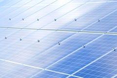 太阳电池板背景 光致电压的可再造能源来源 库存照片