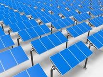 太阳电池板连续 免版税库存照片