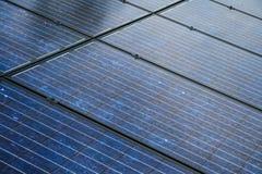 太阳电池板非常紧密  库存图片