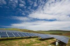 太阳电池板领域 库存照片