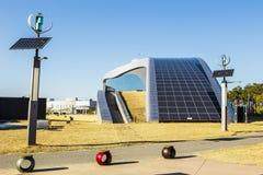 太阳电池板,供选择的能源 免版税库存照片