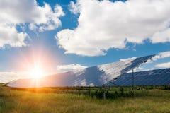 太阳电池板,光致电压-供选择的电来源 免版税库存照片