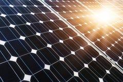 太阳电池板,光致电压,供选择的电来源- sele 免版税库存图片