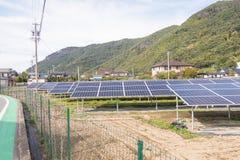 太阳电池板,创新的gr光致电压的模块 库存图片
