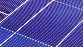 太阳电池板细胞元素组分,细节视图背景 股票录像