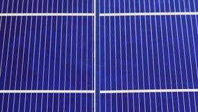太阳电池板细胞元素组分,细节视图,滑录影 股票视频