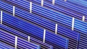太阳电池板细胞组分,细节视图 股票录像