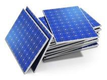 太阳电池板 皇族释放例证