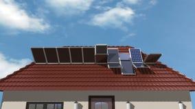 太阳电池板 向量例证