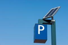 太阳电池的运算 免版税库存照片