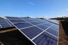 太阳电池的面板 库存图片