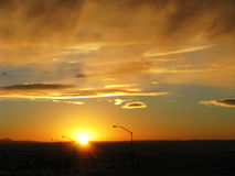 太阳电能的远期 库存图片