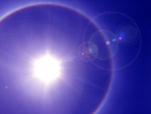 太阳的光晕 图库摄影