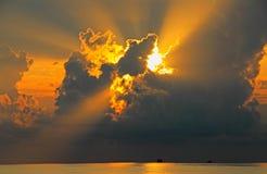 太阳的光芒 库存图片