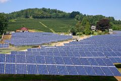 太阳的农场h 库存图片