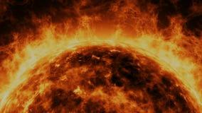 太阳的动画 皇族释放例证