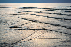 太阳的反射在海 免版税库存图片