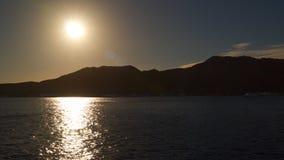太阳的反射在海 股票录像