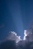太阳的射线 库存照片