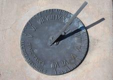 太阳的时钟 免版税库存图片