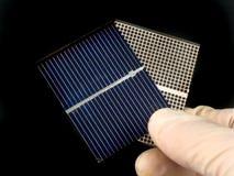 太阳的电池 库存图片