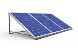 太阳的电池 图库摄影